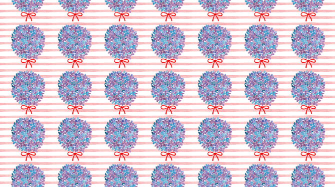 Hortensia Pattern Illustration by Haidi Shabrina