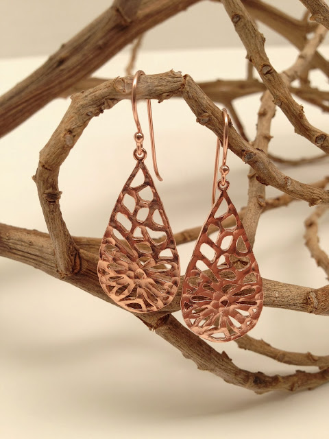 rose gold, earrings, jewellery, bohemian style, luxe