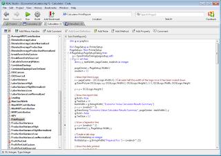 RealBasic Code-Editor [SOURCE: REALBASIC_GALLERY]
