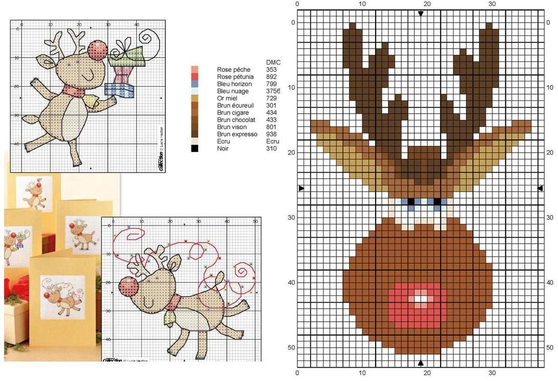 Схемы вышивки на новогоднюю схему 933