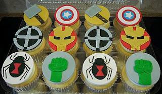 Cupcakes Los Vengadores para Fiestas Infantiles