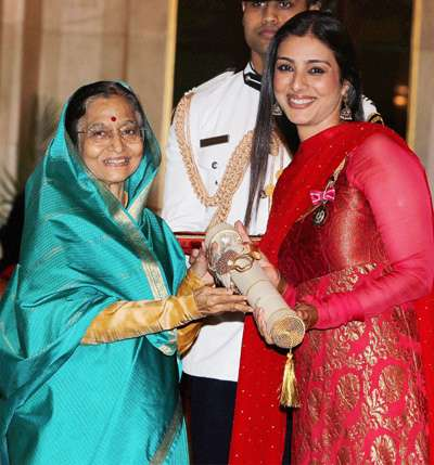 Red hot Tabu Receives Padma Award 2011