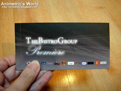 The Bistro Group Premiere Card