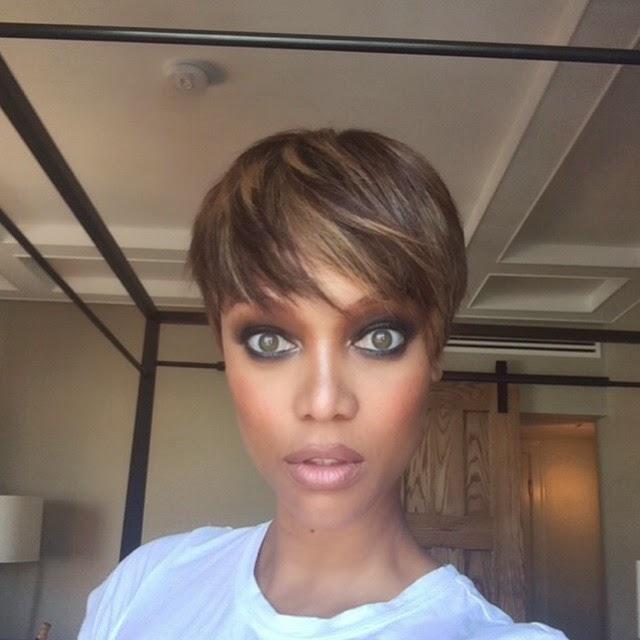 FEELFREEARTZ: SUMMER STYLE: Tyra Banks Gets A Pixie Cut