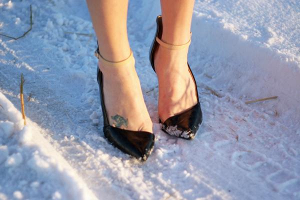 Zara vamp heel