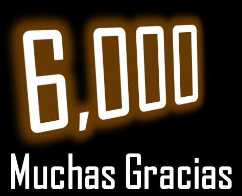Agradecimiento por 6mil visitas