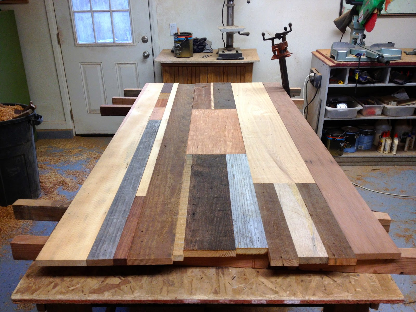 Arbor Exchange | Reclaimed Wood Furniture: Process Photos From Patchwork  Desk