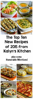 The Top 10 New Recipes of 2015 from Kalyn's Kitchen (and Honorable Mentions) found on KalynsKitchen.com