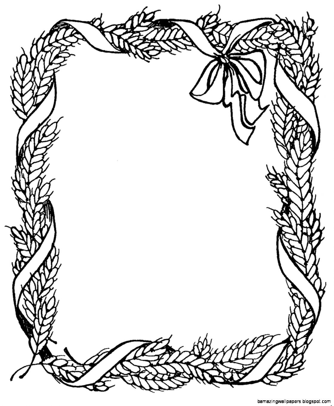 Thanksgiving Border Clipart Black And White