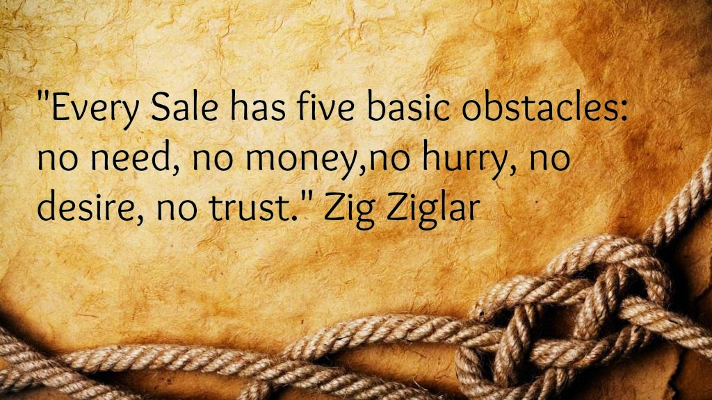 sales obstacles