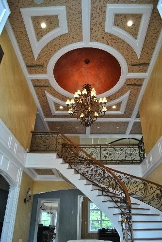 Faux finish foyer