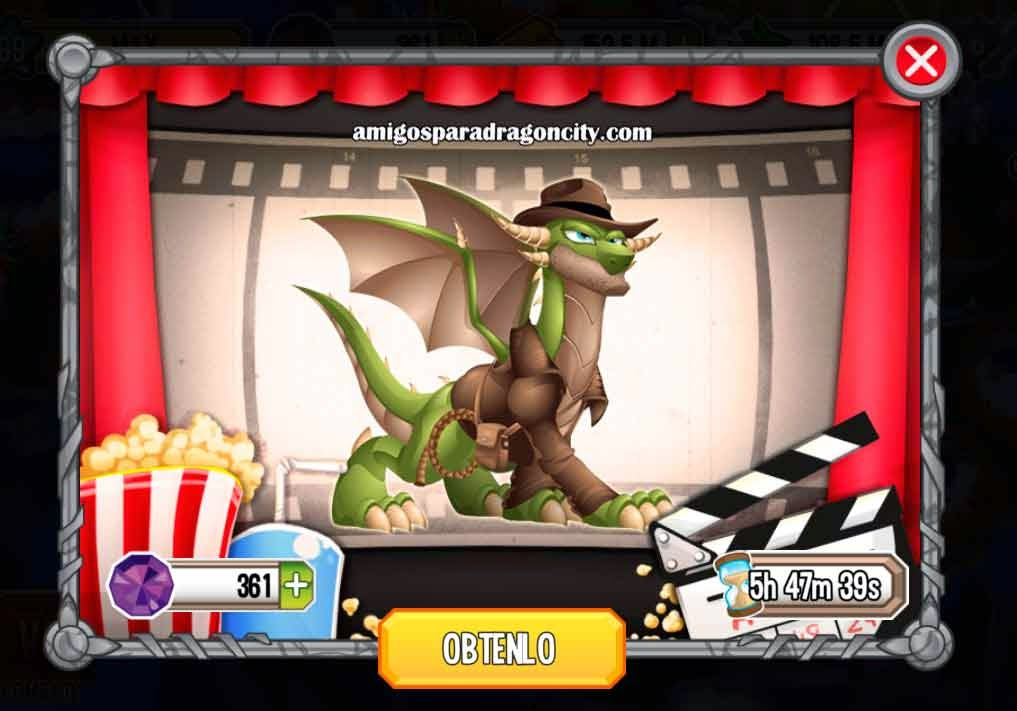 imagen de la oferta del dragon indiana jones en dragon city ios y android