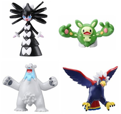 Pokemon figure Tomy MC Gothitelle Reuniclus Beartic Braviary