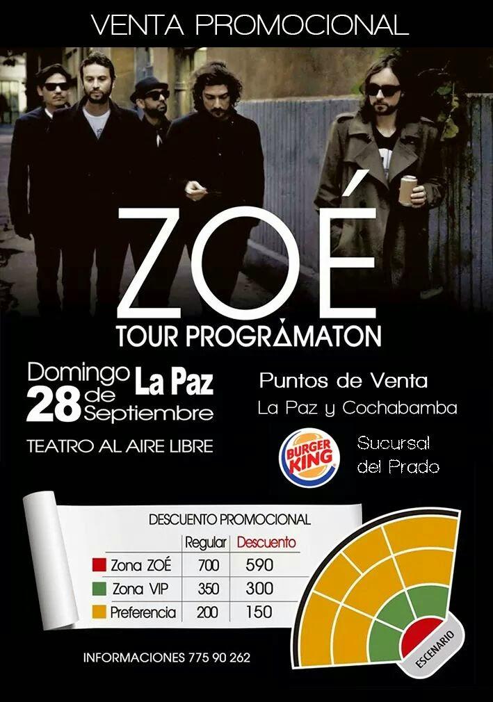 Zoé La Paz 2014.