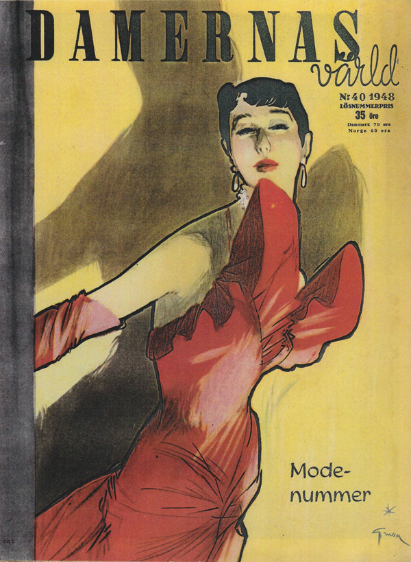 Damernas Värld 1948 Dior Gruau