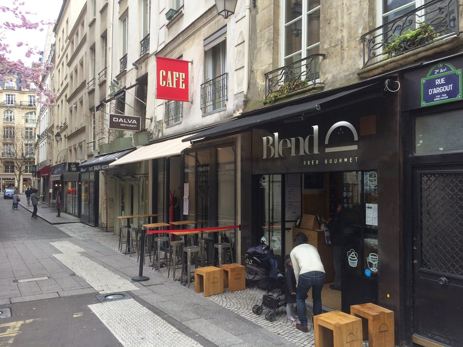 Exterior of Blend, rue d'Argout, Paris