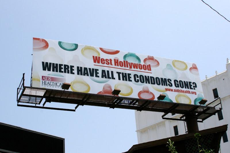 West Hollywood condoms billboard