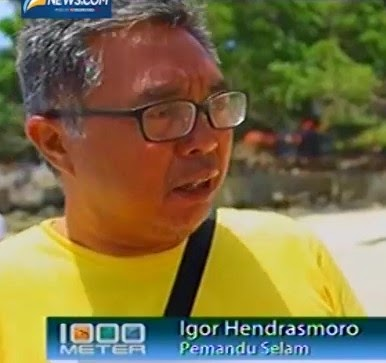 Igor Hendrasmoro - Pemandu Selam di Sabang