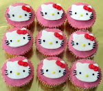 cupcakes de hello kittie