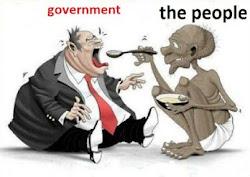 Rakyat nyuapi pemerintah