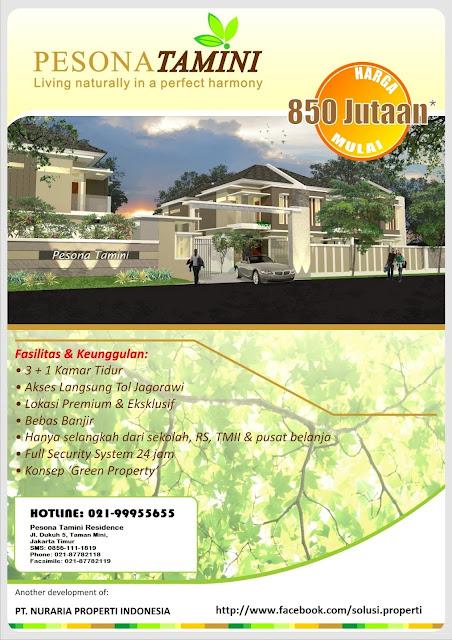 12 Rumah Baru Taman Mini, Jakarta Timur, PESONA TAMINI RESIDENCE