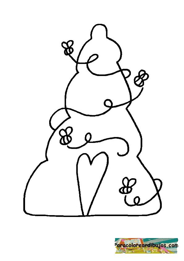 dibujo de colmena para colorear