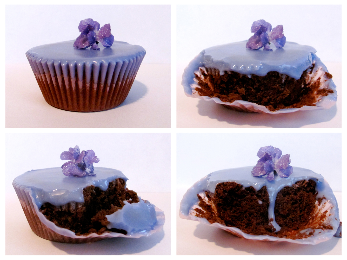 Buffalove Baking: Lavender-Iced Brownie Cupcakes