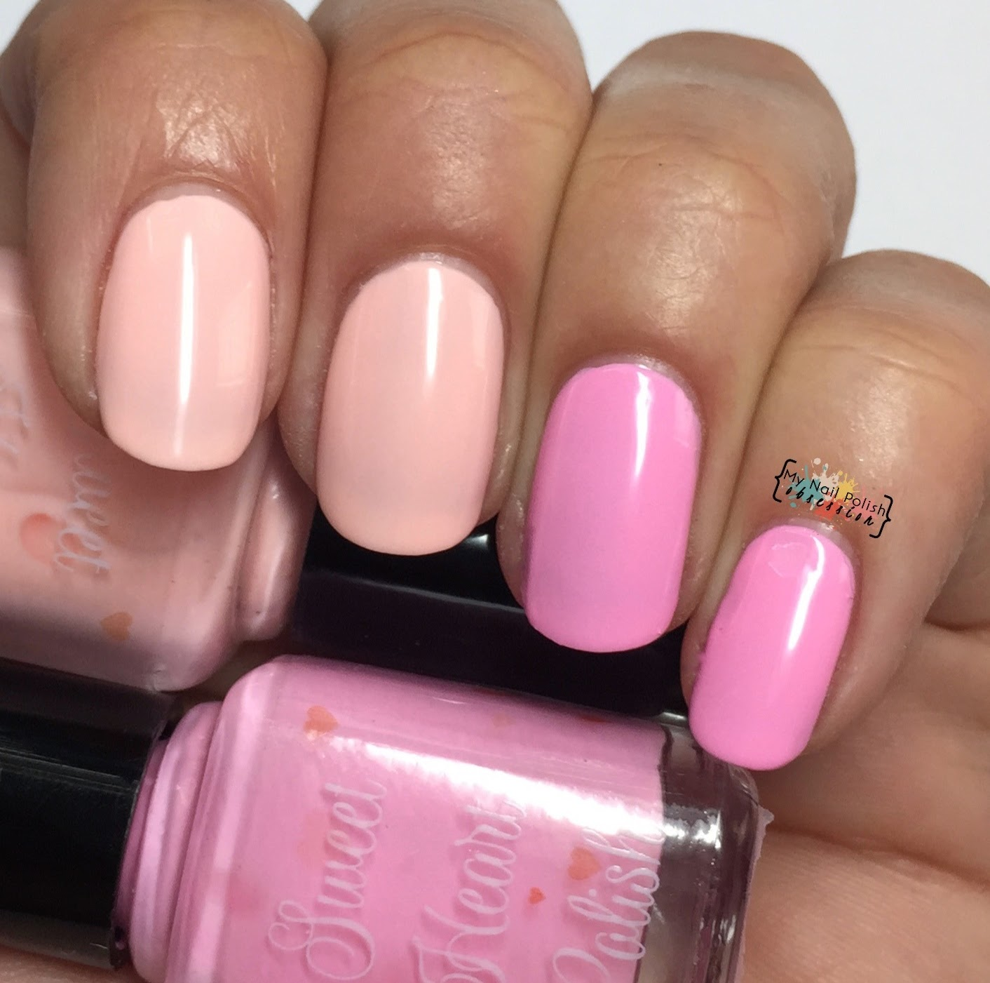 Sweet Heart Polish Peach Cobbler vs Te Amo