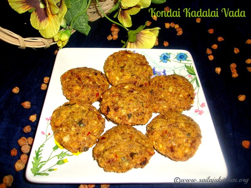 Kondai Kadalai Vada recipe / Black Channa Vada recipe / Black Chickpea Vada Recipe