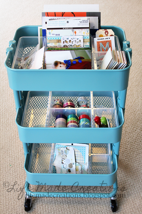 Ikea Aneboda Wardrobe Extra Shelf ~ From IKEA Raskog utility cart in turquoise , Antonius basket insert