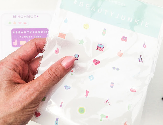 Birchbox #BeautyJunkie August 2015 Stickers