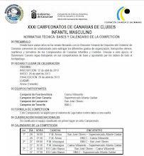 CAMPEONATO DE CANARIAS INFANTIL MASCULINO 2013