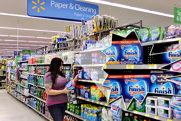 Finish detergent is on Rollback this month at Walmart! Print #SparklySavings to pair with in store deals! #shop #cbias