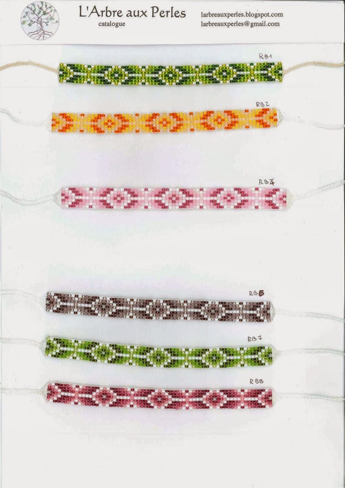 l 39 arbre aux perles bracelets toho catalogue 3 4 collection rainbow. Black Bedroom Furniture Sets. Home Design Ideas