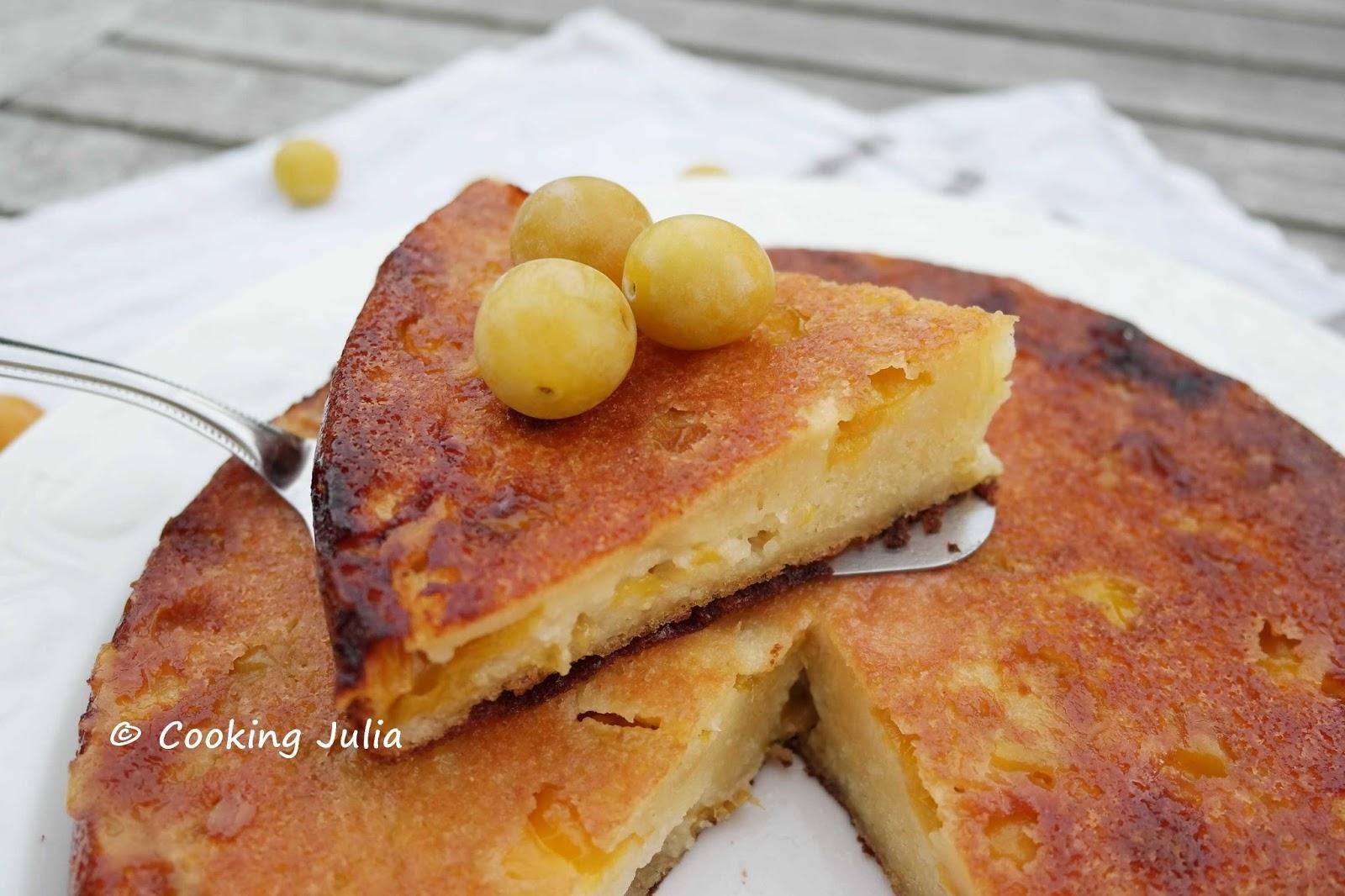 cooking moelleux aux mirabelles et mascarpone
