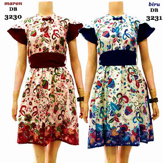 DB3230-3231 Mode Baju Dress Batik Modern Terbaru 2013