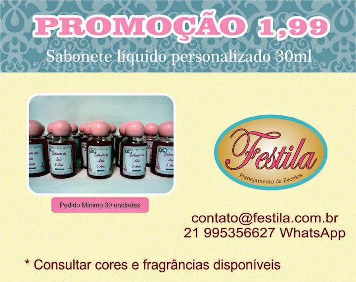 PROMOÇÃO SABONETE LIQUIDO PERSONALIZADO 1,99