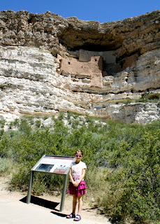 Montezuma Castle stands one hundred feet above the valley. Although large in size and definitely worth seeing, we enjoyed the cliff dwellings at both Walnut Canyon and Navajo National Monument more.