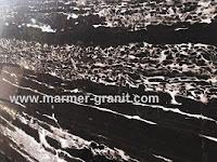 Marmer Hitam Nero Portoro Silver