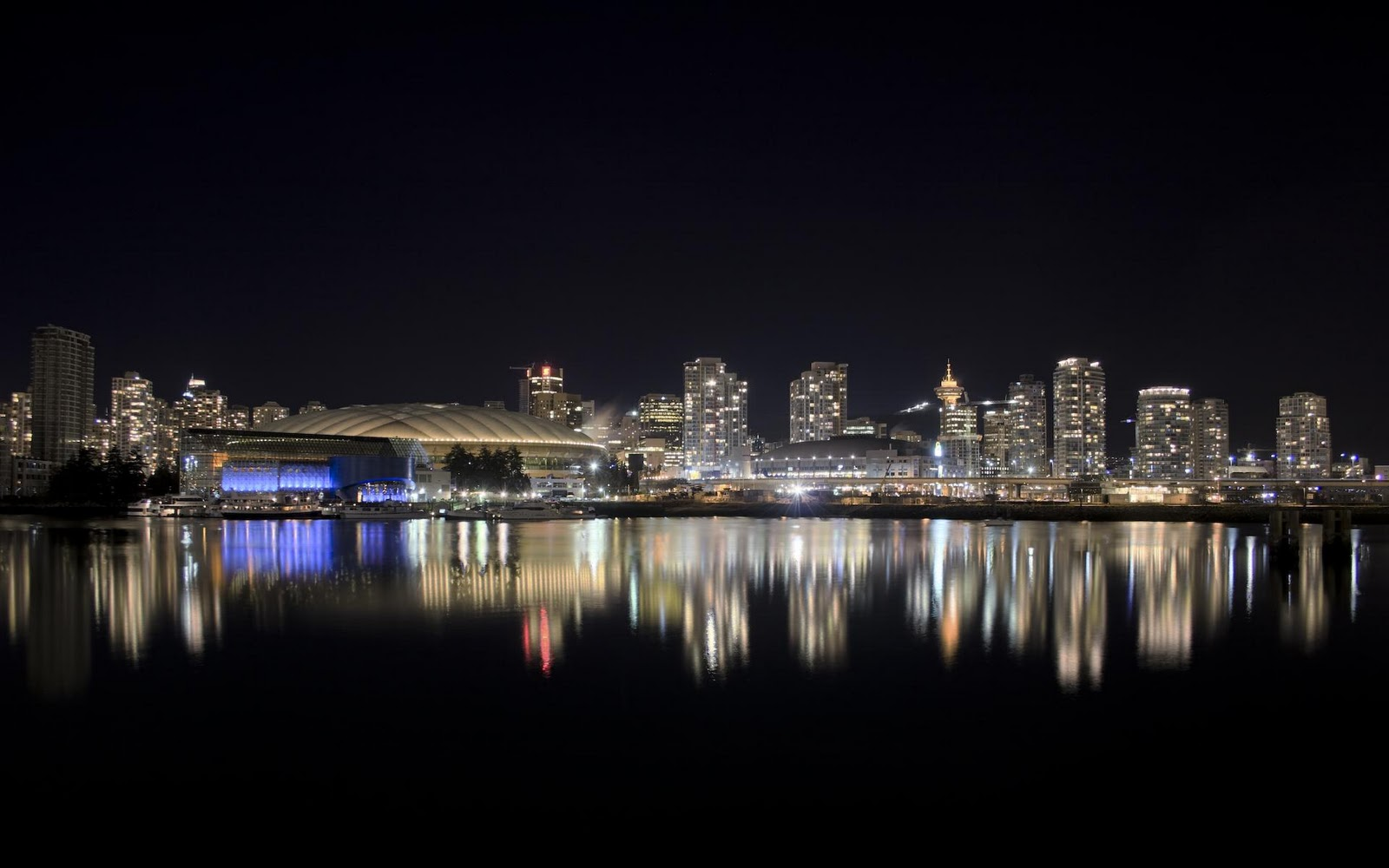 vancouver city nights wallpapers - Vancouver City Nights HDPiCorner