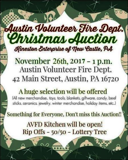 11-26 Christmas Auction, Austin VFD