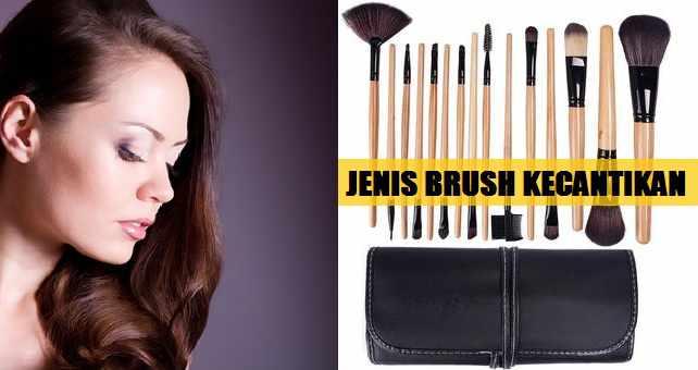 Jenis Brush Kecantikan Wanita Dan Fungsinya