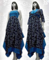 Model Baju Batik Long Dress Terbaru