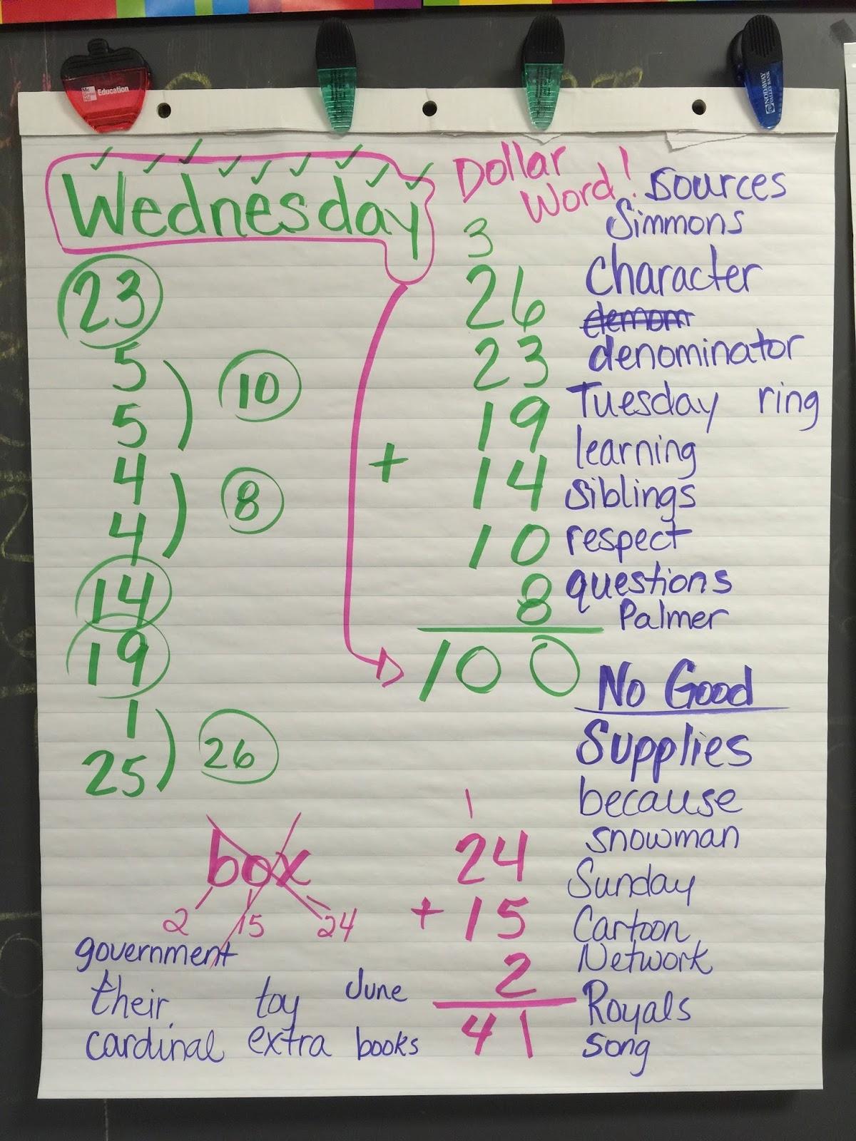Miss Simmonss 4th Grade News: Dollar Words!