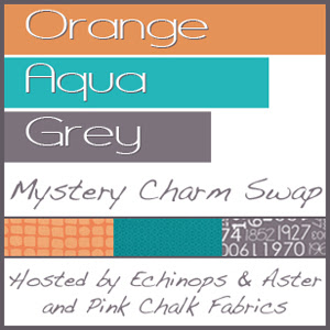 Orange, Aqua, Grey Charm Swap
