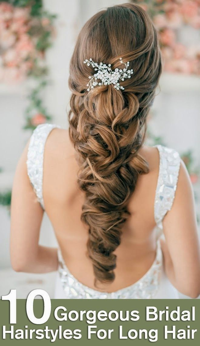 Top 10 Gorgeous Bridal Hairstyles For Long Hair - DIY Craft Projects