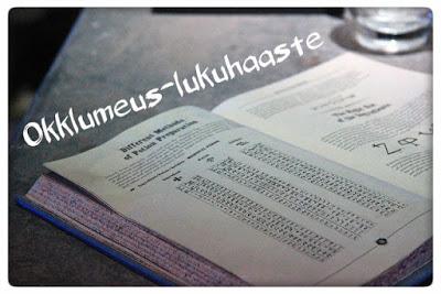 Okklumeus-lukuhaaste (31.10.2016 asti)