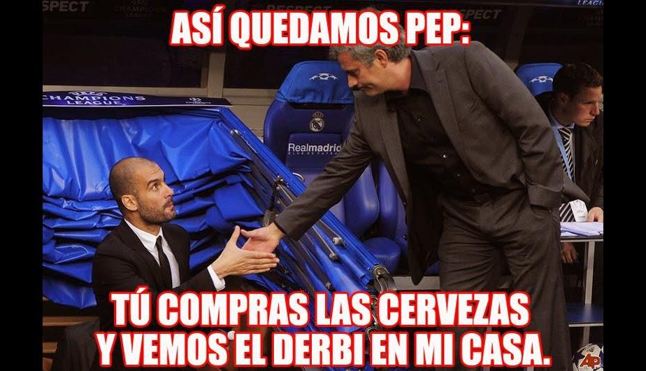 Guardiola y Mourinho memes