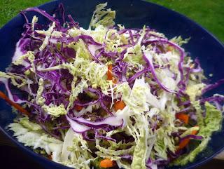 tangy vinegar coleslaw
