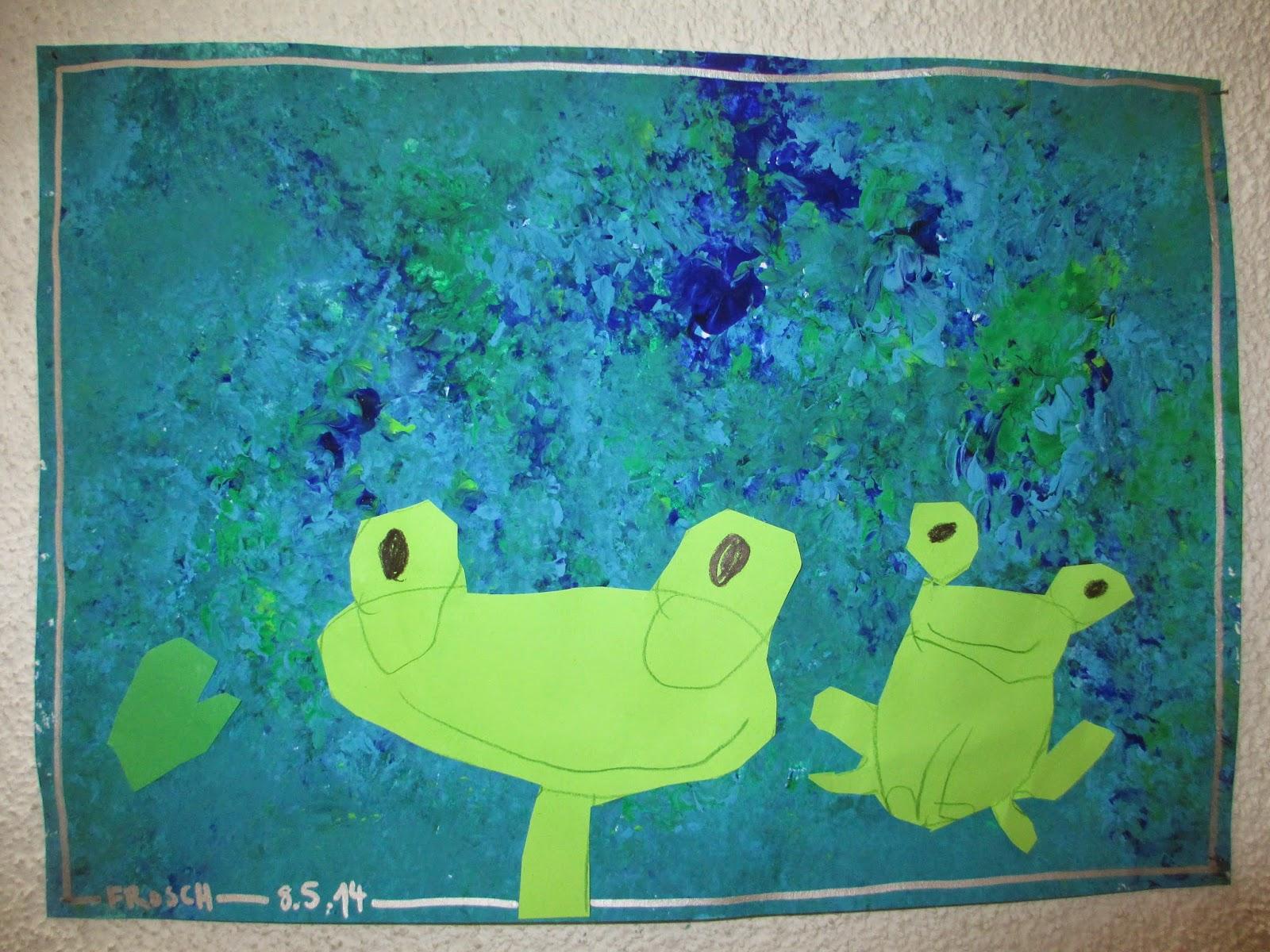 Frosch zeichnen mit Kinern